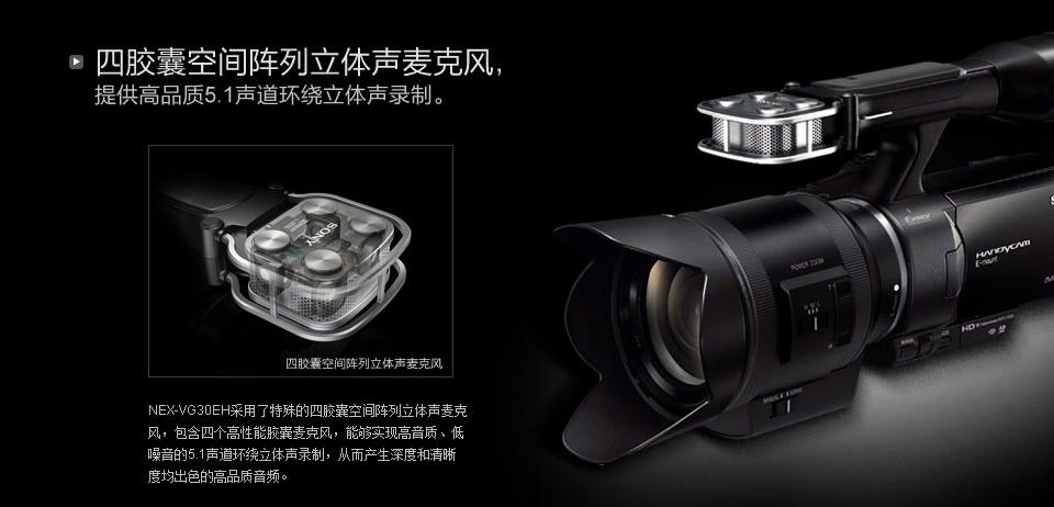 可更换镜头摄像机 产品定位 专业摄像机 传感器类型 exmor aps hd