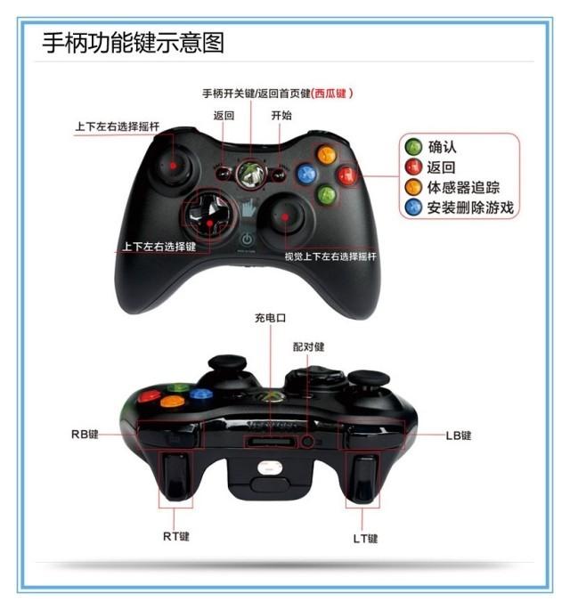 全新原装微软xbox360无线手柄