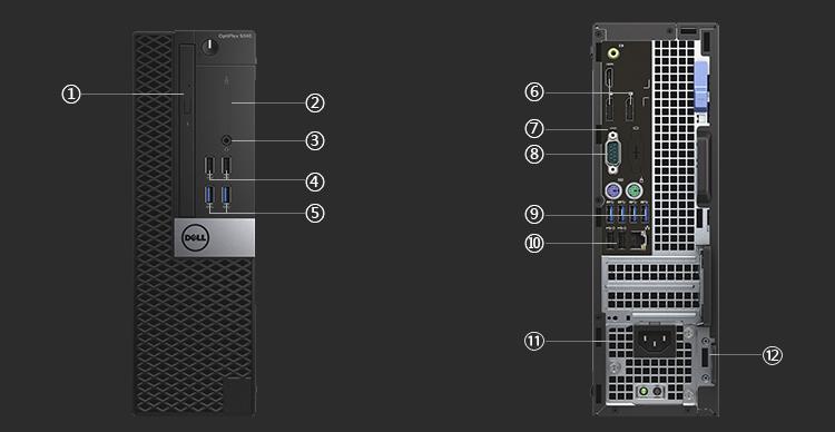 内包邮】戴尔OptiPlex3040系列微塔式机箱(C样式顶房顶图纸斜图片