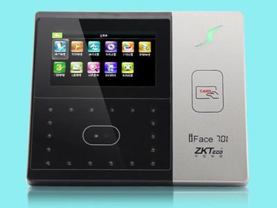 中控 IFACE701ZKTeco中控智慧IFace701人脸识别考勤机打卡机 ID卡刷卡门禁一体 双摄像头识别 高清触摸屏 可选后备电池 带门禁