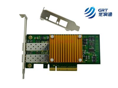 【光润通】F1002E-V3.0  万兆双光口网卡 intel82599ES经典芯片