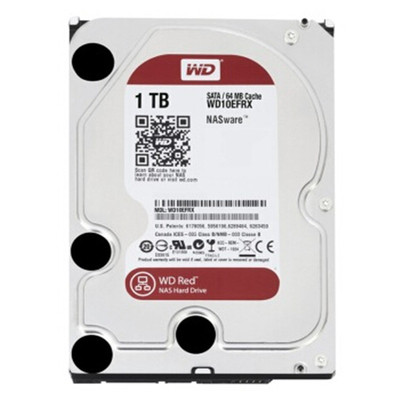 西部数据 1TB 7200转 64MB SATA3 红盘(WD10EFRX)