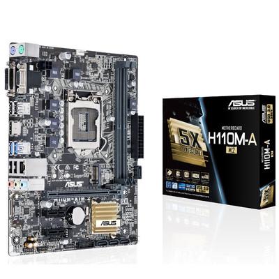 【行货保证限时特惠】Asus/华硕 H110M-A/M.2 LGA1151 DDR4全固态电容主板 支持M.2