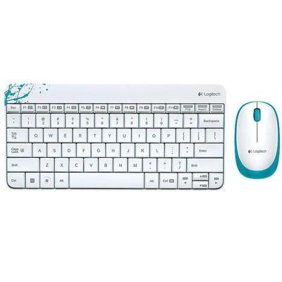 【包邮】罗技 MK240无线键鼠套装,简约布局 时尚背景 低剖面超静音 长效电池