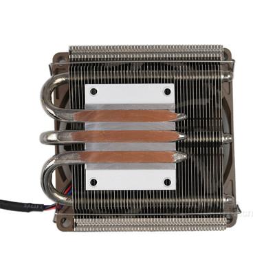 ID-COOLING IS-40静音版多平台薄型下吹CPU散热器 三热管9cm温控静音风扇兼容ITX平台