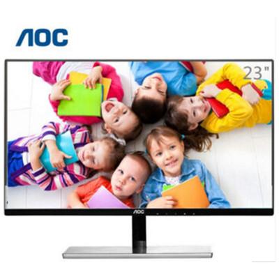AOC I2379V/WS23英寸AH-IPS广视角窄边框不闪屏显示器 银黑