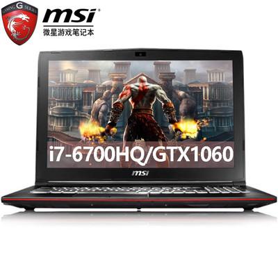 【新品上市  顺丰包邮】msi微星 GP62 6RF-215CN  酷睿i7-6700H 8G 128G固+1TB GTX1060-3G游戏级独显 IPS屏 背光键盘