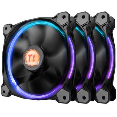 Tt(Thermaltake)Riing RGB 风扇(风扇*3/256色/液压轴承/强化减震系统/静音技术/LED导光圈)
