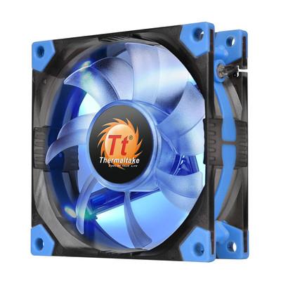 Tt (Thermaltake) Luna 8cm减震风扇(液压轴承/强化减震/双叶弧形扇叶/静音技术/3Pin/大4Pin通用)