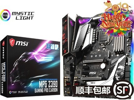 微星 MPG Z390 GAMING PRO CARBON AC 黑色
