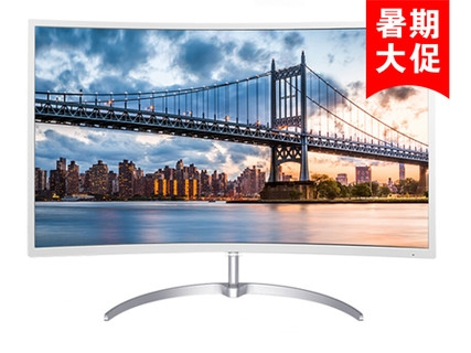 飞利浦248E8QSW 23.6英寸 MVA广视角曲面显示器  248E8显示器+DIV数据线